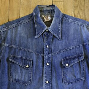 Vintage-Levis-Short-horn-Denim-Shirt-front-detail
