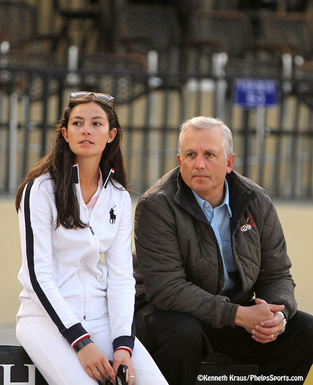Murray Kessler with daughter Reed. ©Kenneth Kraus/Phelps Sports