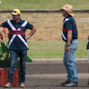Crew in the 1st Round of the CSI-W at  the 2015 Summer Classic Show Jumping on 12-12-2015 at the Sydney International Equestrian Centre. (flickr.com/Franz Venhaus).