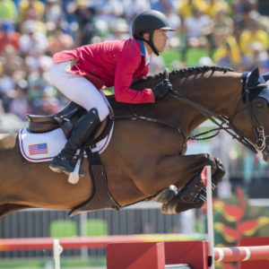 Kent Farrington and Voyeur posted only a time fault today. ©FEI/Richard Juilliart