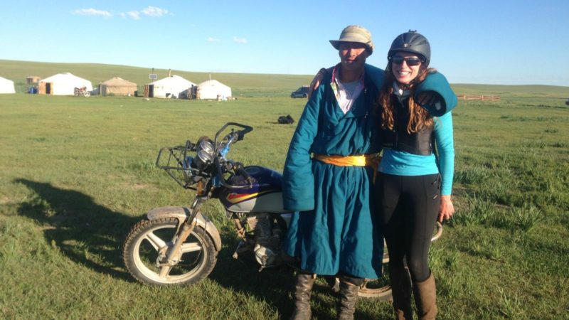 My hero, who took me on the back of his motorcycle to search for my lost GPS.