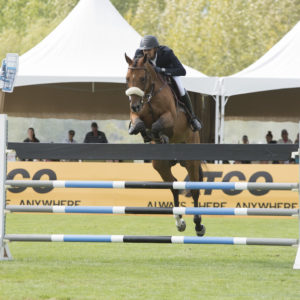 Nayel Nassar (EGY) and Lordan win the Reliable Rentals $100,000 CSI3* Grand Prix at Thunderbird Show Park in Langley B.C. August 21, 2016. Photo - Rebecca Berry