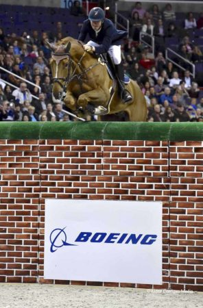 Jos Verlooy and Sunshine in the Puissance. (©Alden Corrigan)