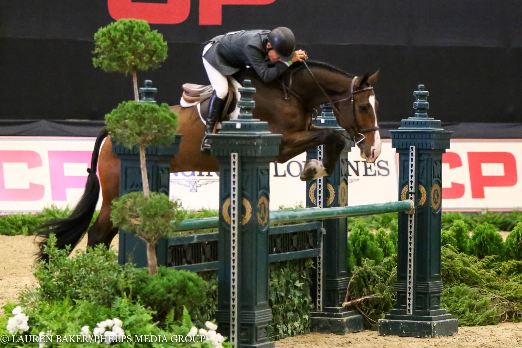 John French and Skyhawk. ©Lauren Baker/Phelps Media