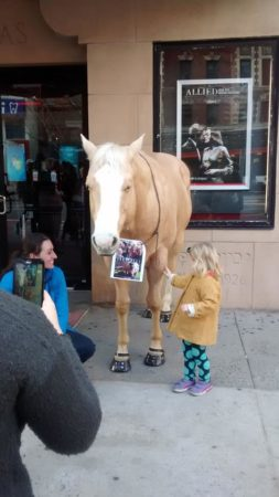 "Lindsey and Dreamer, promoting ""Unbridled"" in NYC this month. (flickr.com/Lindsey Partridge)"