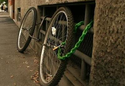 Ineffective bike locks.