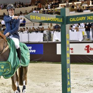 Pedro  VENISS and Quabri de l'Isle. ©Rolex Grand Slam of Show Jumping/Kit Houghton