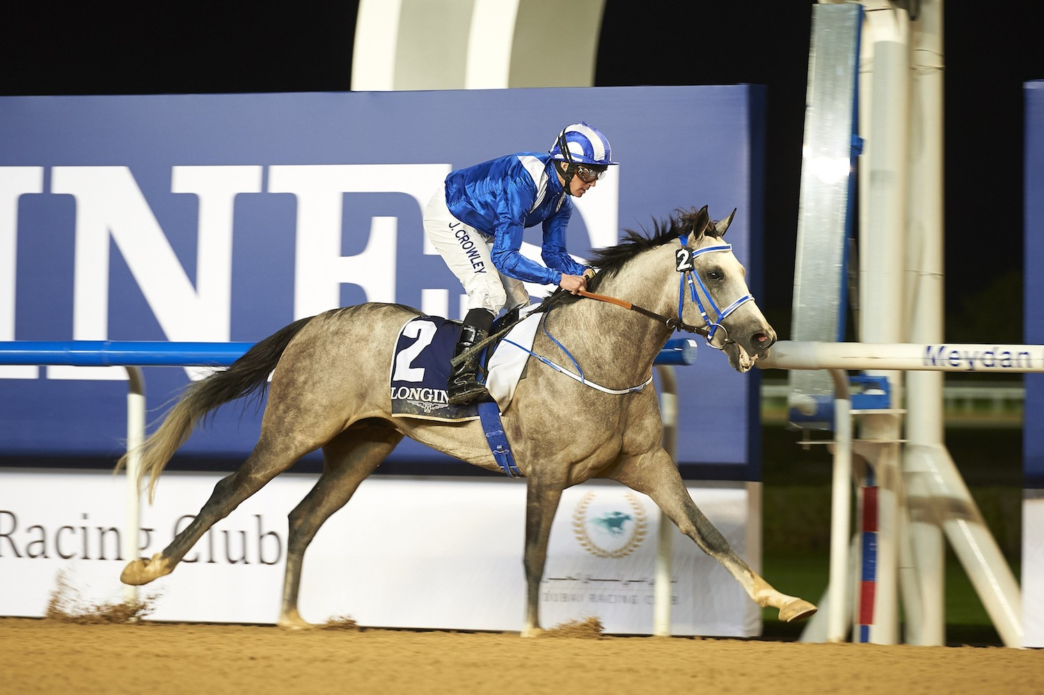 AF Mathmoon kicks off the 2017 Dubai World Cup Carnival with a win over Rb Burn. ©Dubai Racing Club/Andrew Watkins