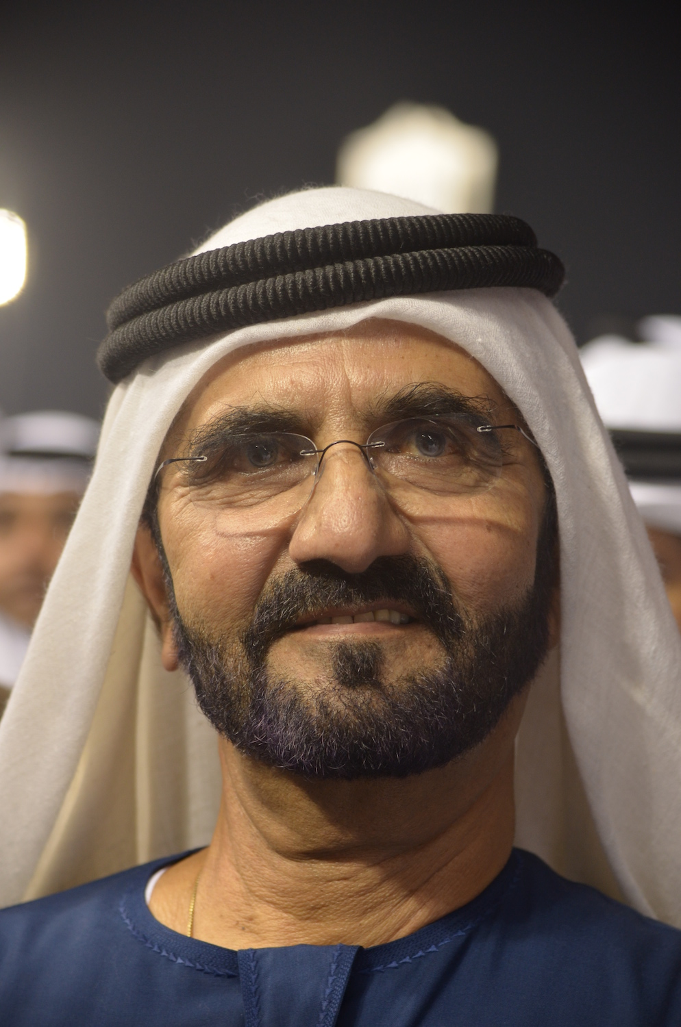 Among the world's most avid horsemen, Sheikh Mohammed conceived of the Dubai World Cup. ©Richard R. Gross