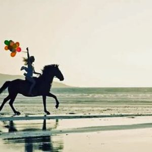 Beach Horse and Balloons