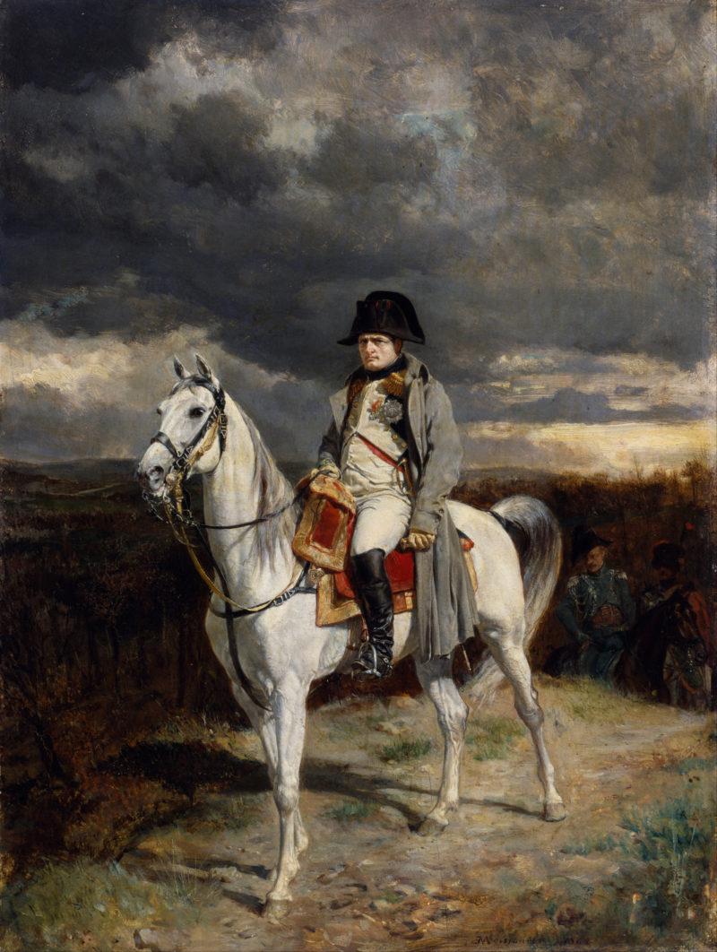 A painting of Napoleon aboard le Vizir. (By Jean-Louis-Ernest Meissionier [Public domain], via Wikimedia Commons)
