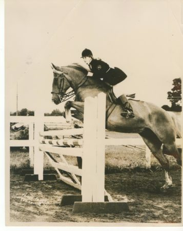 "Peggy and ""Hoot"", competing in the 1960s. (Courtesy of the author)."