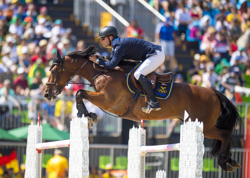 Rio 2016 Silver medalists Peder Fredricson (SWE) and All In. ©FEI/Arnd Bronkhorst