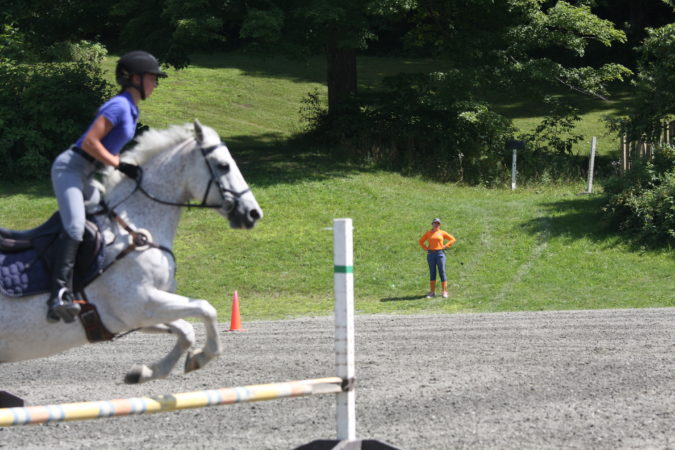 Sharon White coaches a jumping excercise at GMHA. (Courtesy of the author.)