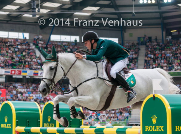 Bertram Allen (IRL) and Molly Malone V in the 2014 World Equestrian Games. (flickr.com/Franz Venhaus)