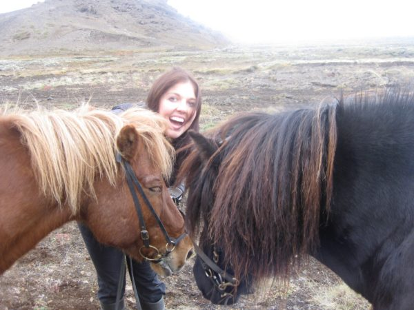 Anderson riding in Iceland. (Courtesy of Whitney Anderson)