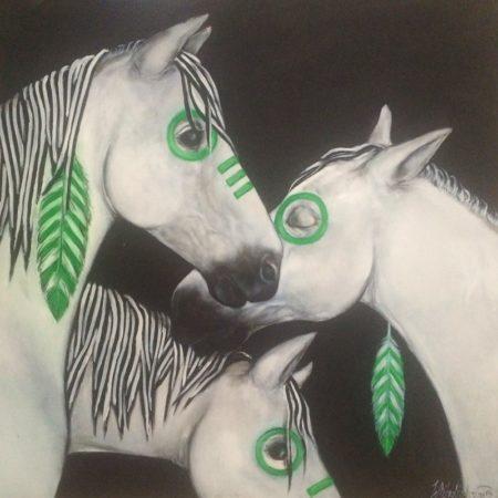 Starbucks Native Art on White Ponies, 2015. (Courtesy of Whitney Anderson)
