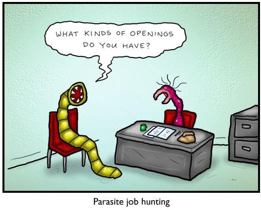 parasite-job-hunting