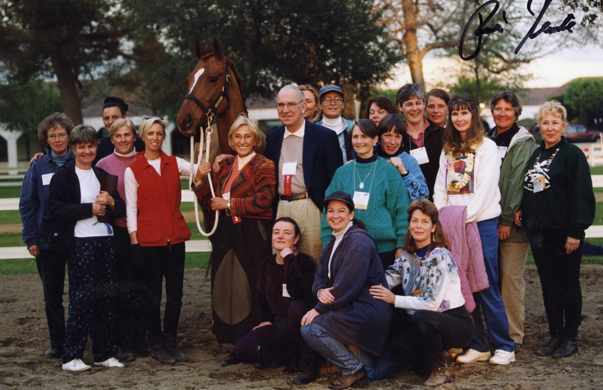 Tellington-Jones and Dr. Klimke with the clinic in 1999. Courtesy of Linda Tellington-Jones.