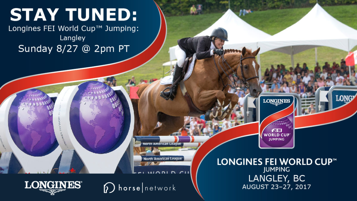 Live, From Langley, It's Longines FEI World Cup™ Jumping!