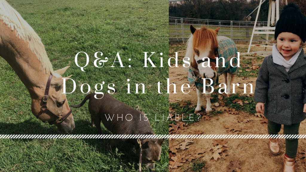 Q&A: Kids and Dogs in the Barn—Who is Liable?